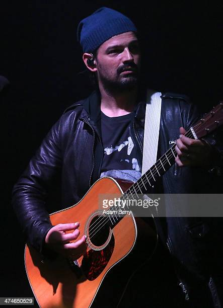 Tomo Milicevic of Thirty Seconds To Mars performs during a concert at the Apple store on February 24, 2014 in Berlin, Germany.