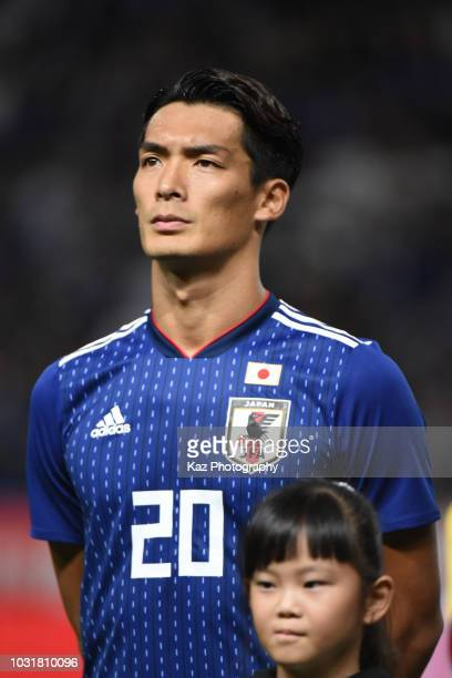 Tomoaki Makino of Japan during the international friendly match between Japan and Costa Rica at Suita City Football Stadium on September 11 2018 in...
