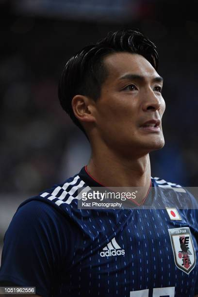 Tomoaki Makino of Japan during the international friendly match between Japan and Panama at Denka Big Swan Stadium on October 12 2018 in Niigata Japan