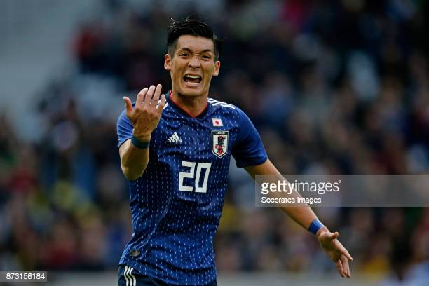 Tomoaki Makino of Japan during the International Friendly match between Japan v Brazil at the Stade Pierre Mauroy on November 10 2017 in Lille France