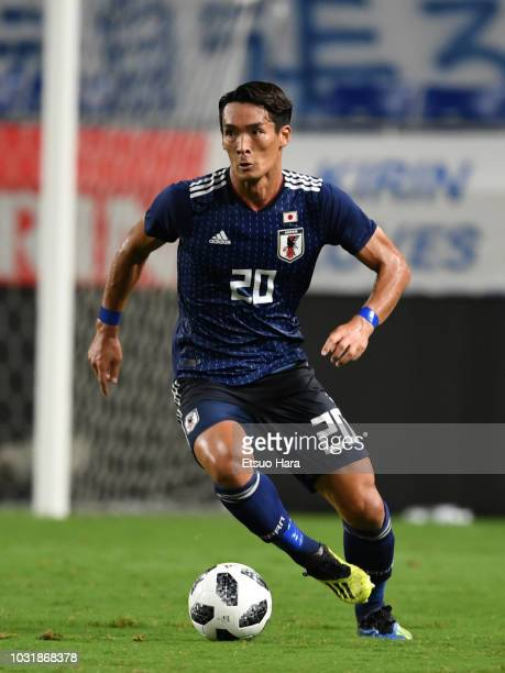 Tomoaki Makino of Japan in action during the international friendly match between Japan and Costa Rica at Suita City Football Stadium on September 11...