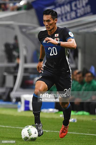 Tomoaki Makino of Japan in action during the international friendly match between Japan and Bosnia and Herzegovina at the Suita City Football Stadium...