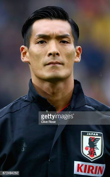 Tomoaki Makino of Japan looks on during the international friendly match between Brazil and Japan at Stade PierreMauroy on November 10 2017 in Lille...