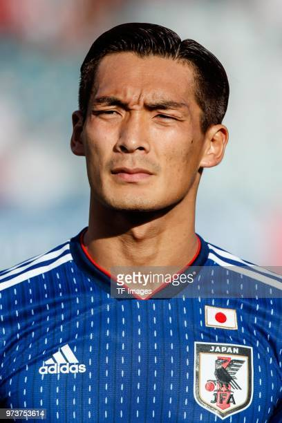 Tomoaki Makino of Japan looks on during the international friendly match between Switzerland and Japan at the Stadium Cornaredo on June 8 2018 in...