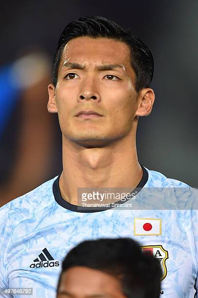 Tomoaki Makino of Japan poses during the 2018 FIFA World Cup Qualifier match between Cambodia and Japan on November 17 2015 in Phnom Penh Cambodia