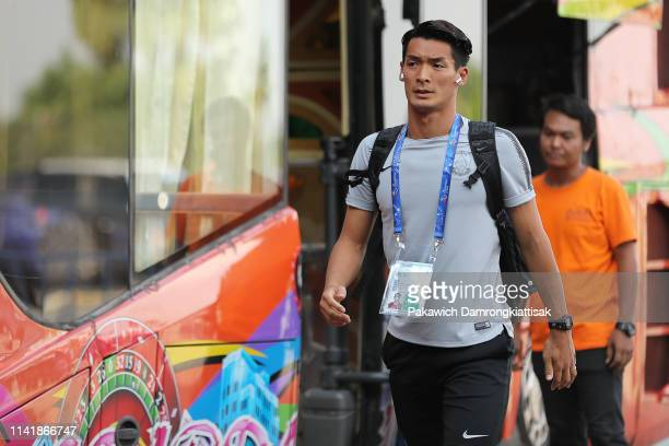 Tomoaki Makino of Urawa Red Diamonds arrives at the stadium during the AFC Champions League Group G match between Buriram United and Urawa Red...
