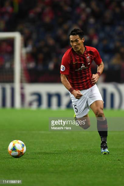 Tomoaki Makino of Urawa Red Diamonds in action during the AFC Champions League Group G match between Urawa Red Diamonds and Jeonbuk Hyundai Motors at...