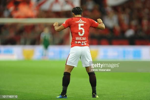 Tomoaki Makino of Urawa Red Diamonds in action during the JLeague J1 match between Urawa Red Diamonds and Jubilo Iwata at Saitama Stadium on August...