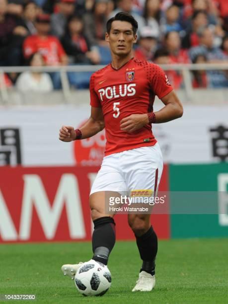 Tomoaki Makino of Urawa Red Diamonds in action during the JLeague J1 match between Urawa Red Diamonds and Kashiwa Reysol at Saitama Stadium on...