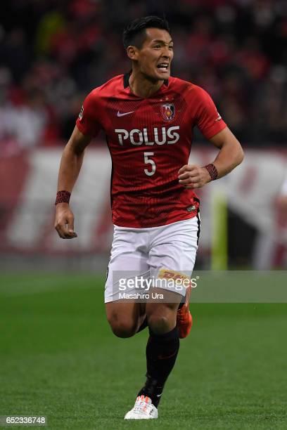 Tomoaki Makino of Urawa Red Diamonds in action during the JLeague J1 match between Urawa Red Diamonds and Ventforet Kofu at Saitama Stadium on March...