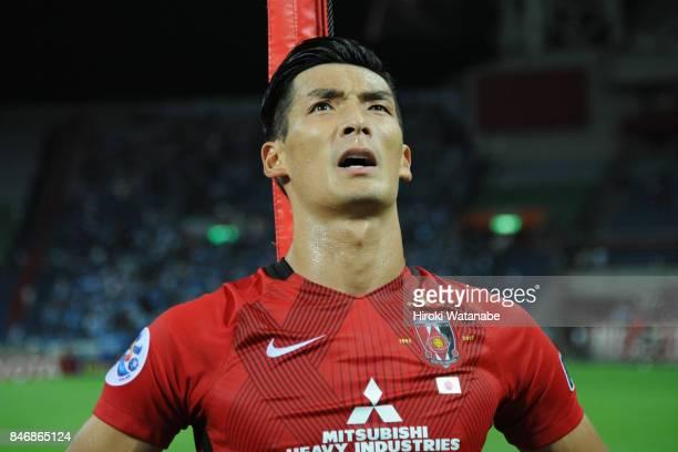 Tomoaki Makino of Urawa Red Diamonds looks on after the AFC Champions League quarter final second leg match between Urawa Red Diamonds and Kawasaki...