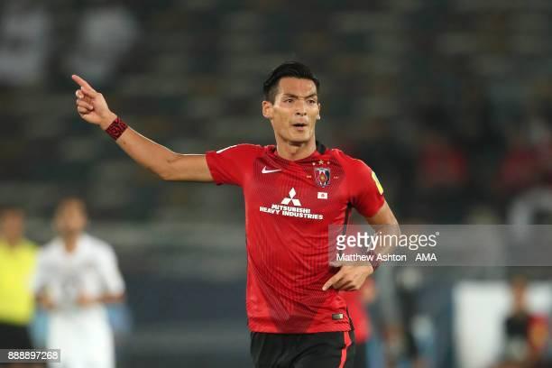 Tomoaki Makino of Urawa Red Diamonds reacts during the FIFA Club World Cup UAE 2017 match between Al Jazira and Urawa Red Diamonds at Zayed Sports...