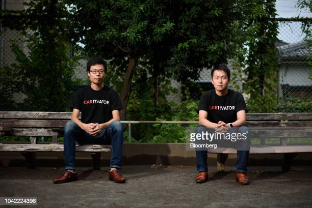 Tomohiro Fukuzawa director of Cartivator left and Tsubasa Nakamura project leader pose for a photograph in Tokyo Japan on Tuesday Sept 11 2018...
