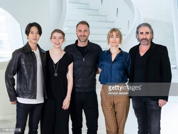 Tomohisa Yamashita Katherine O'Donnelly Alexandre Willaume Laura Bach and John Lynch attend ' The head ' photocall during day two of the MIPCOM 2019...