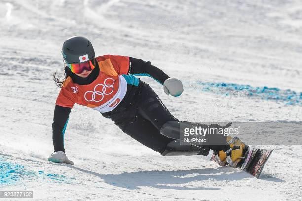 Tomoka Takeuchi of Japan at parallel giant slalom at winter olympics Gangneung South Korea on February 24 2018