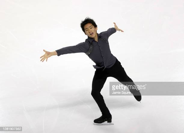 Tomoki Hiwatashi of the USA competes in the Mens Short Program during the ISU Grand Prix of Figure Skating at the Orleans Arena on October 23, 2020...