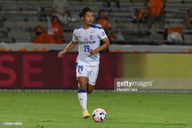 Tomoki Iwata of Oita Trinita in action during the J.League Meiji Yasuda J1 match between Shimizu S-Pulse and Oita Trinita at IAI Stadium Nihondaira...