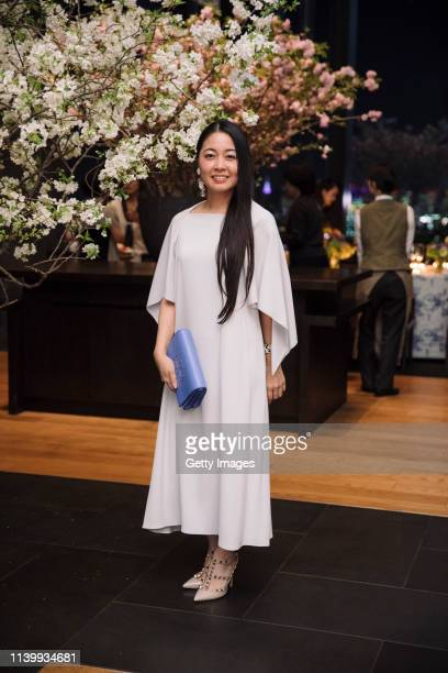 Tomoko Kawao attends the Tory Burch Ginza Boutique Opening After Party on April 02 2019 in Tokyo Japan