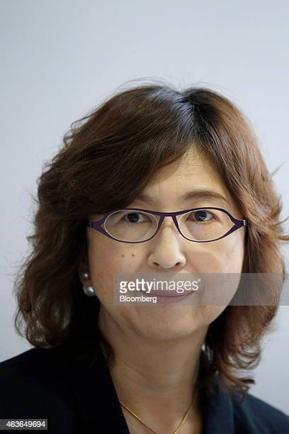 Tomoko Namba, founder and board member of DeNA Co., attends a news conference at the University of Tokyo's Institute of Medical Science in Tokyo,...