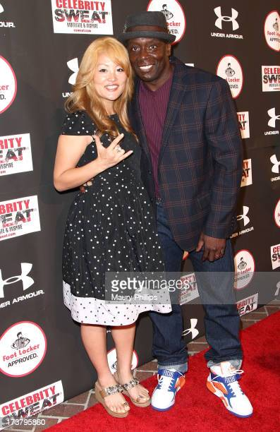 Tomoko Sato and Billy Blanks arrive at the 2013 ESPY Awards After Party at The Palm on July 17 2013 in Los Angeles California