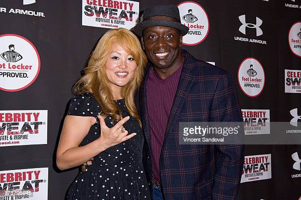 Tomoko Sato and Billy Blanks attend Nelly Hosts An After Party To Celebrate The ESPYS at The Palm on July 17 2013 in Los Angeles California