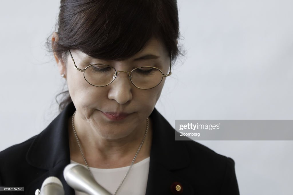 Japan's Defense Minister Tomomi Inada Resigns Over Military Cover-up : ニュース写真