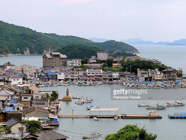 tomo-no-ura - fishing village stock pictures, royalty-free photos & images