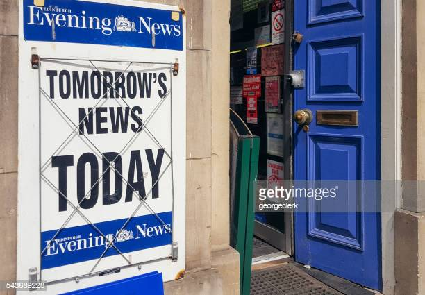 tomorrow's news today newspaper banner - news stand stock pictures, royalty-free photos & images