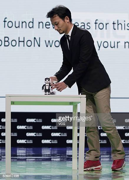 Tomotaka Takahashi President of Robo Garage Co Ltd and who developed Ropid a robot that can jump three inches off the ground in 2009 introduces his...