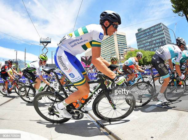 Tomothy Roe of Australia and UNISA Australia competes during stage six of the 2018 Tour Down Under on January 21 2018 in Adelaide Australia