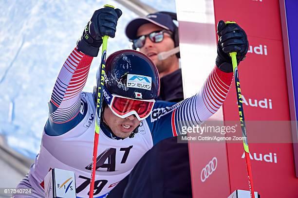 Tomoya Ishii of Japan at the start during the Audi FIS Alpine Ski World Cup Men's Giant Slalom on October 23 2016 in Soelden Austria