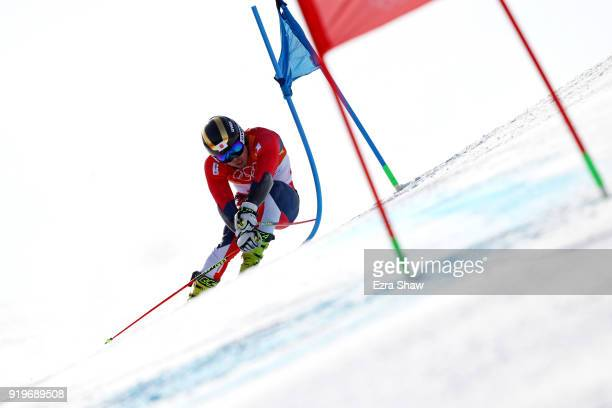 Tomoya Ishii of Japan competes during the Alpine Skiing Men's Giant Slalom on day nine of the PyeongChang 2018 Winter Olympic Games at Yongpyong...