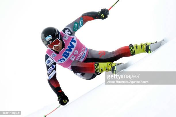 Tomoya Ishii of Japan competes during the Audi FIS Alpine Ski World Cup Men's Giant Slalom on January 12 2019 in Adelboden Switzerland