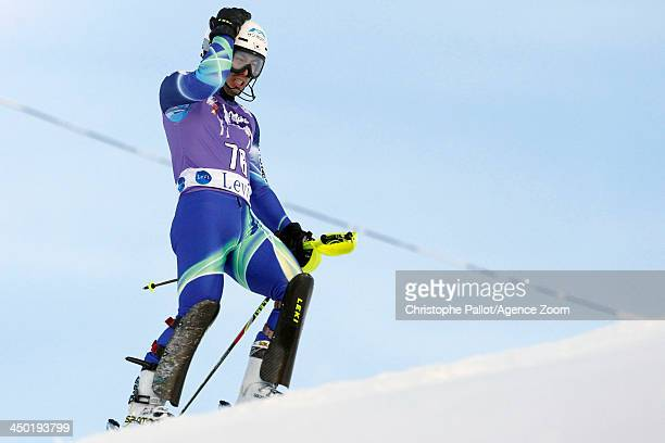 Tomoya Ishii of Japan competes during the Audi FIS Alpine Ski World Cup Men's Slalom on November 17 2013 in Levi Finland