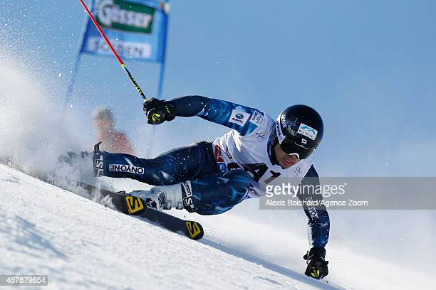 Tomoya Ishii of Japan competes during the Audi FIS Alpine Ski World Cup Men's Giant Slalom on October 26 2014 in Soelden Austria