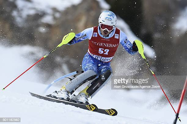 Tomoya Ishii of Japan competes during the Audi FIS Alpine Ski World Cup Men's Slalom on December 13 2015in Val d'Isere France