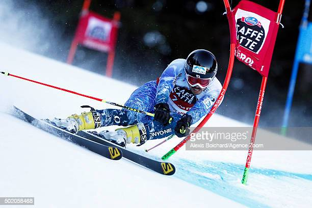 Tomoya Ishii of Japan competes during the Audi FIS Alpine Ski World Cup Men's Giant Slalom on December 20 2015 in Alta Badia Italy