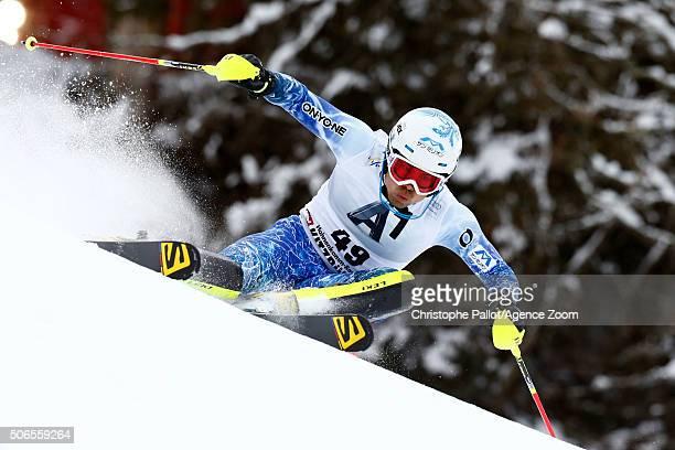 Tomoya Ishii of Japan competes during the Audi FIS Alpine Ski World Cup Men's Slalom on January 24 2016 in Kitzbuehel Austria