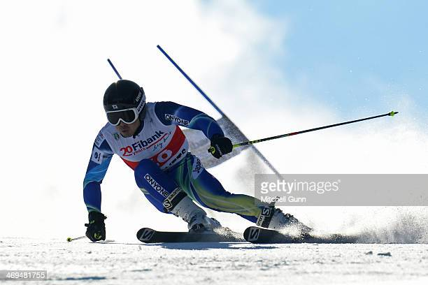 Tomoya Ishii of Japan competes in the FIS Alpine Ski Europa Cup Men's Giant Slalom on 15 February 2014 in Borovets Bulgaria