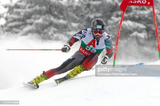 Tomoya Ishii of Japan in action during the Audi FIS Alpine Ski World Cup Men's Giant Slalom on February 24 2019 in Bansko Bulgaria