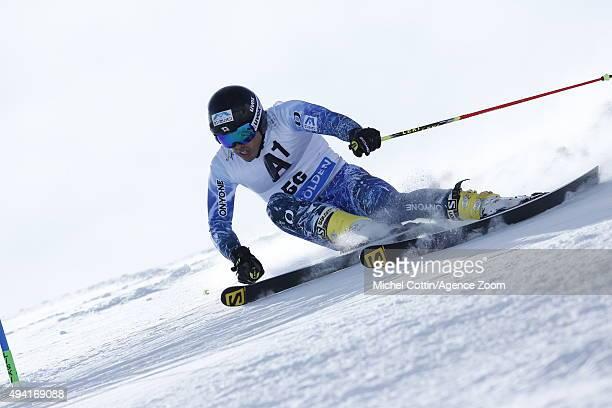Tomoya Ishii of Japan in action during the Audi FIS Alpine Ski World Cup Men's Giant Slalom on October 25 2015 in Soelden Austria