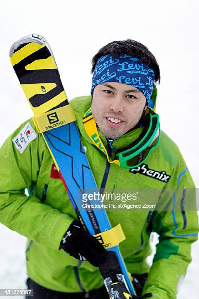Tomoya Ishii of Japan poses for a shot during the Audi FIS Alpine Ski World Cup Men's Slalom on November 17 2013 in Levi Finland