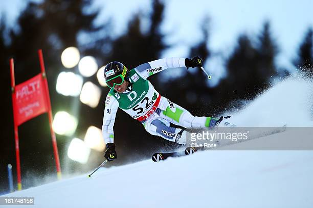 Tomoya Ishii of Japan skis in the Men's Giant Slalom during the Alpine FIS Ski World Championships on February 15 2013 in Schladming Austria