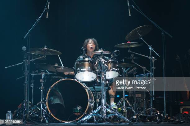Tomoya Kanki from One OK Rock performs at Le Bataclan on December 12, 2018 in Paris, France.