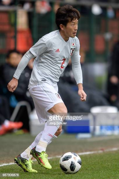 Tomoya Ugajin of Japan during the International friendly match between Japan and Mali at the Stade de Sclessin on March 23, 2018 in Liege Belgium.