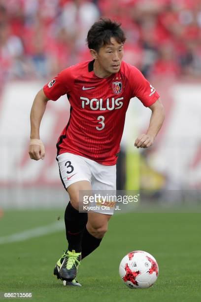Tomoya Ugajin of Urawa Red Diamonds in action during the J.League J1 match between Urawa Red Diamonds and Shimizu S-Pulse at Saitama Stadium on May...