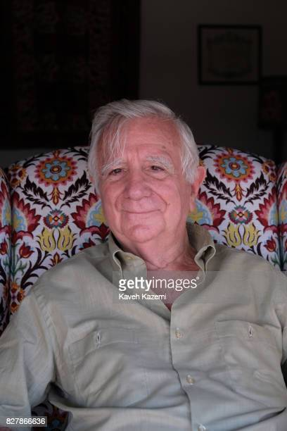 Tomás Alcoverro the Spanish journalist who has worked for La Vanguardia newspaper in Catalonia Spain seen in his apartment located next to Commodore...