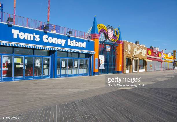 Tom's Coney Island stands amongst a virtually deserted boardwalk on Coney Island in New York on 15 November 2013 15NOV13 [05JANUARY2014 TRAVEL POST...