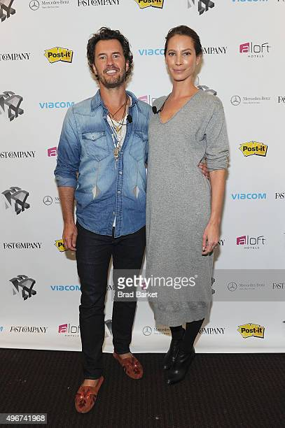 Toms Founder Blake Mycoskie and model Christy Turlington Burns appear during The Fast Company Innovation Festival presentation of The Creativity Of...
