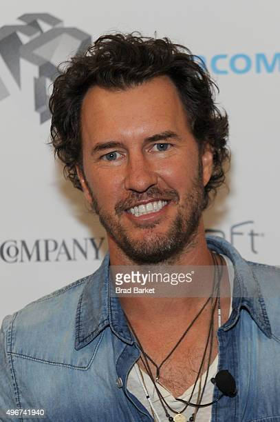 Toms Founder Blake Mycoskie appears during The Fast Company Innovation Festival presentation of The Creativity Of Giving TOMS Founder Blake Mycoskie...
